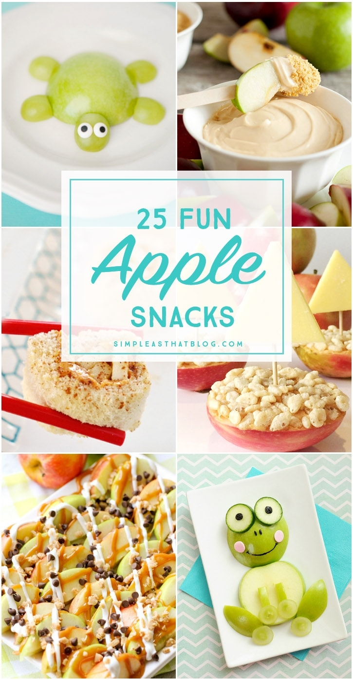 25 Fun Apple Snacks intended for Fun Snack Ideas For Meetings