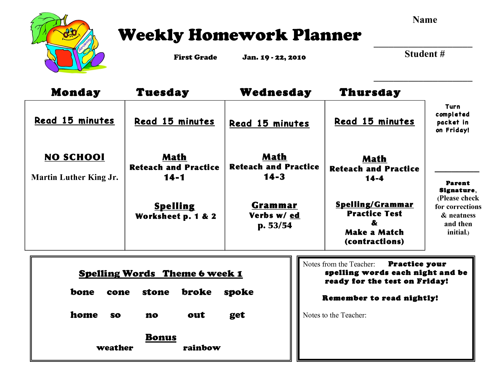 29 Images Of 1St Grade Homework Template | Bfegy with 1St Grade Homework Chart Templates