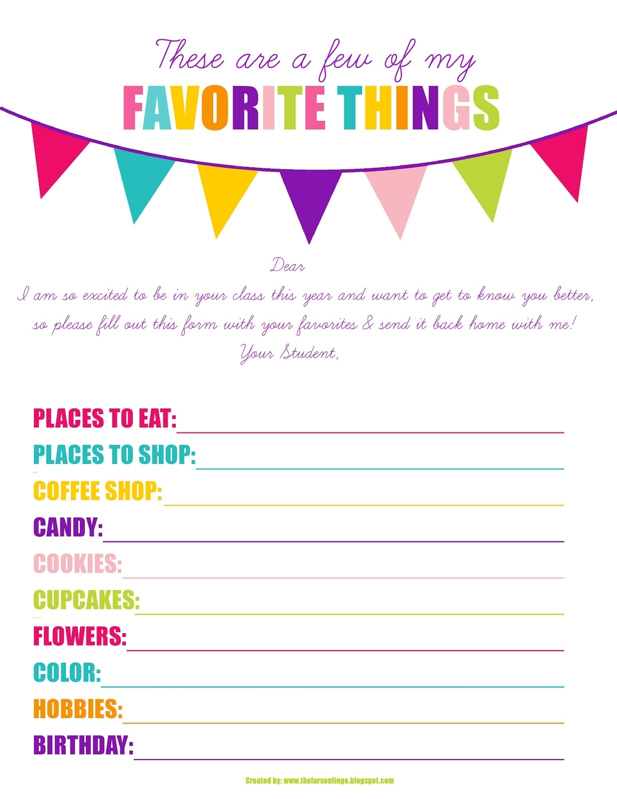 29 Images Of My Favorite Things Template | Helmettown inside A Few Of My Favorite Things Template