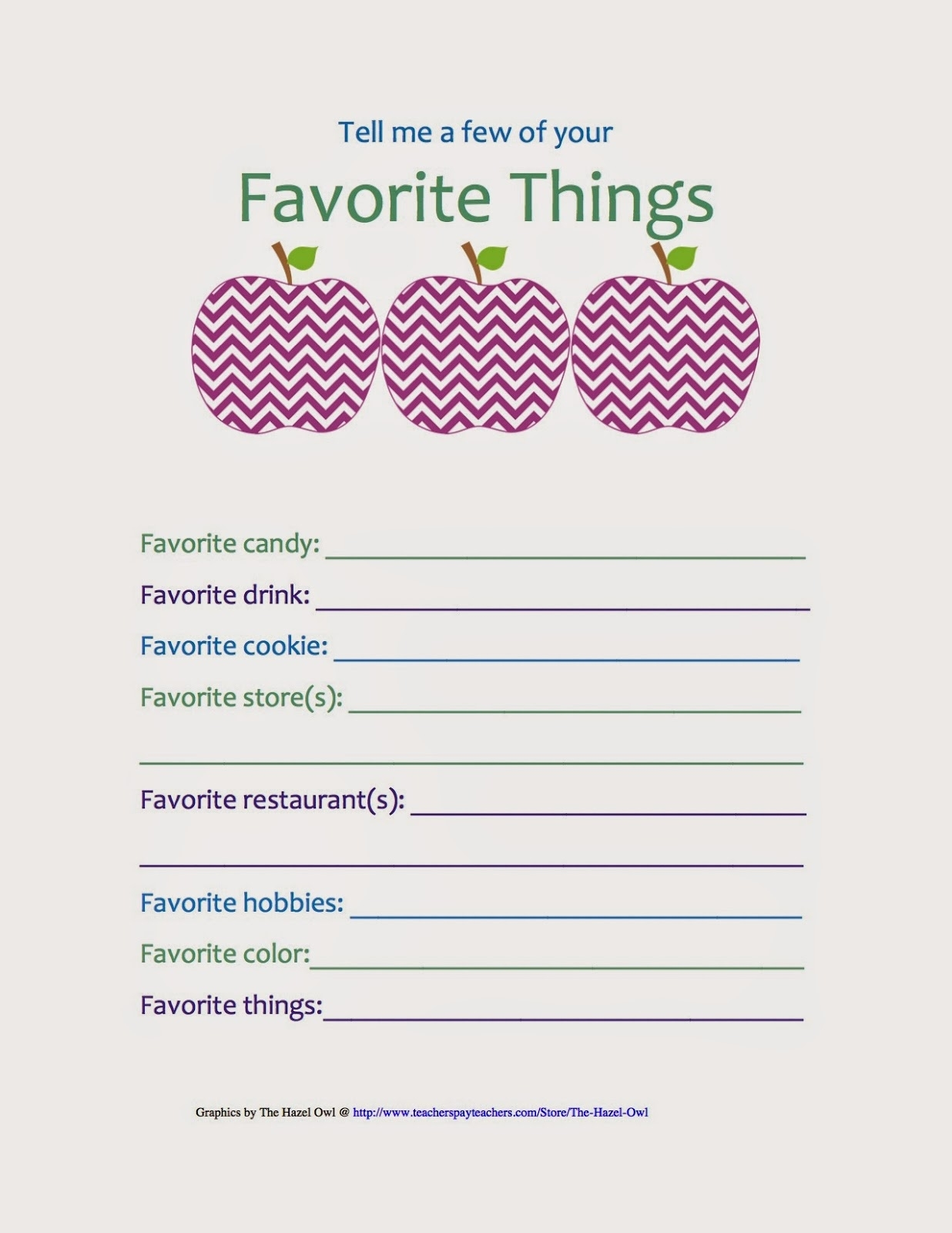 29 Images Of My Favorite Things Template | Helmettown regarding A Few Of My Favorite Things Template