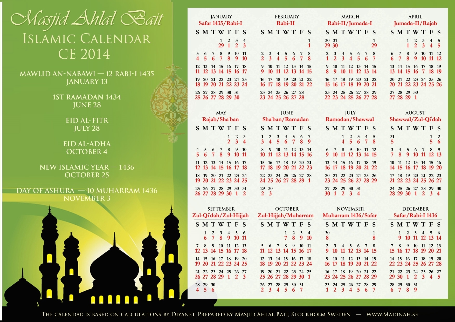 3 Blessed Days In Islamic Calendar within Which Day Are We In Arabic Calendar