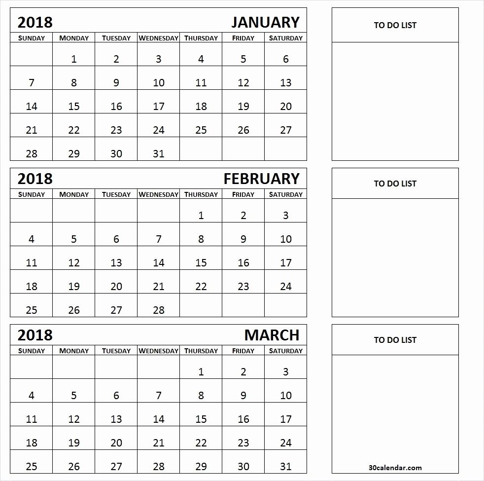 3 Month Calendar Next 3 Month Calendar Template 2018 Calendar within 3 Month Printable Calendar Template