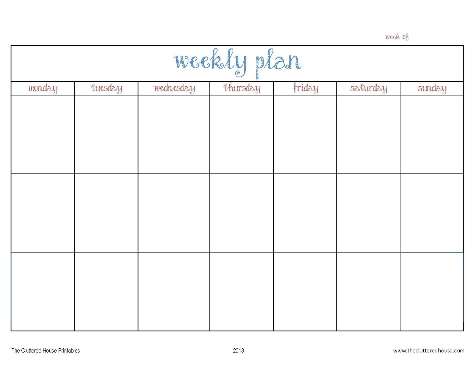 3 Week Calendar - Cocu.seattlebaby.co with regard to Weekly Calander Lesson Plan Template
