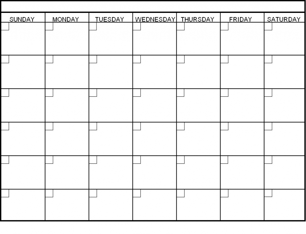 30 Day Calendar Printable | Printable Calendar Templates 2019 regarding Blank 30 Day Calendar Template