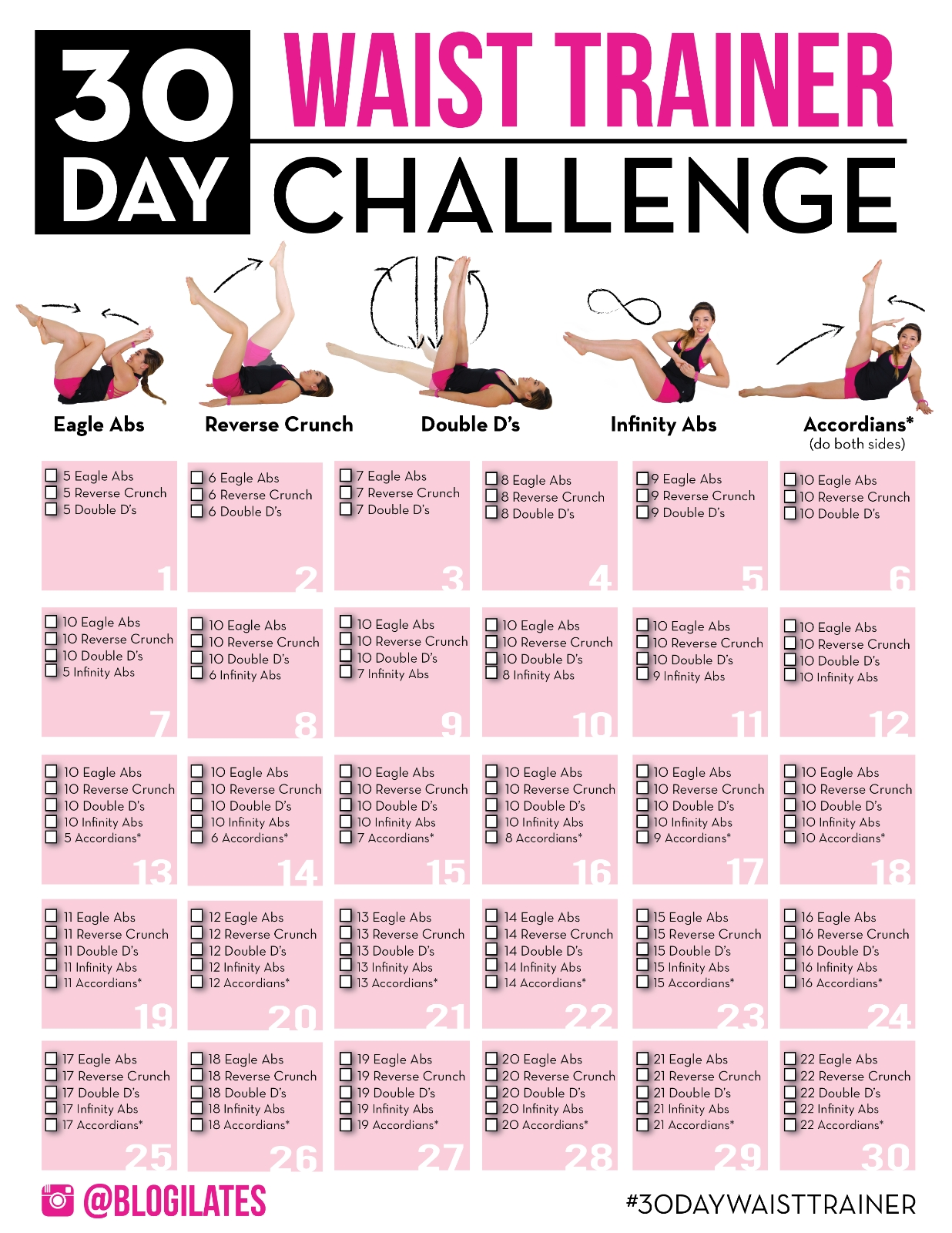 30 Day Challenge Archives – Blogilates throughout 30 Day Inner Thigh Challenge Calendar