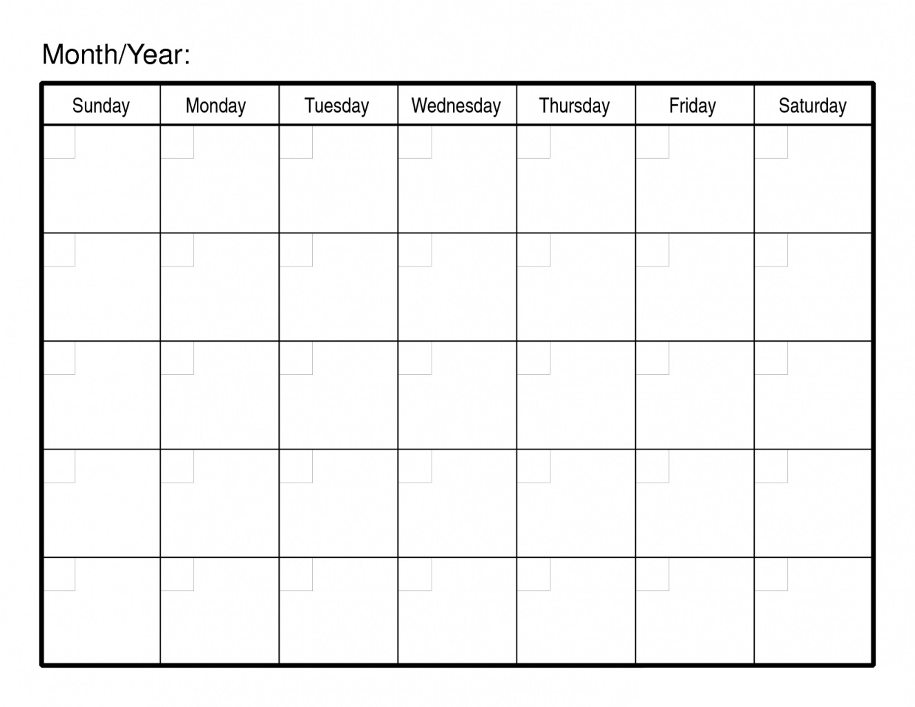 30 Day Free Blank Calendar Printable Template | Free Printable inside Free 30 Day Calendar Printable