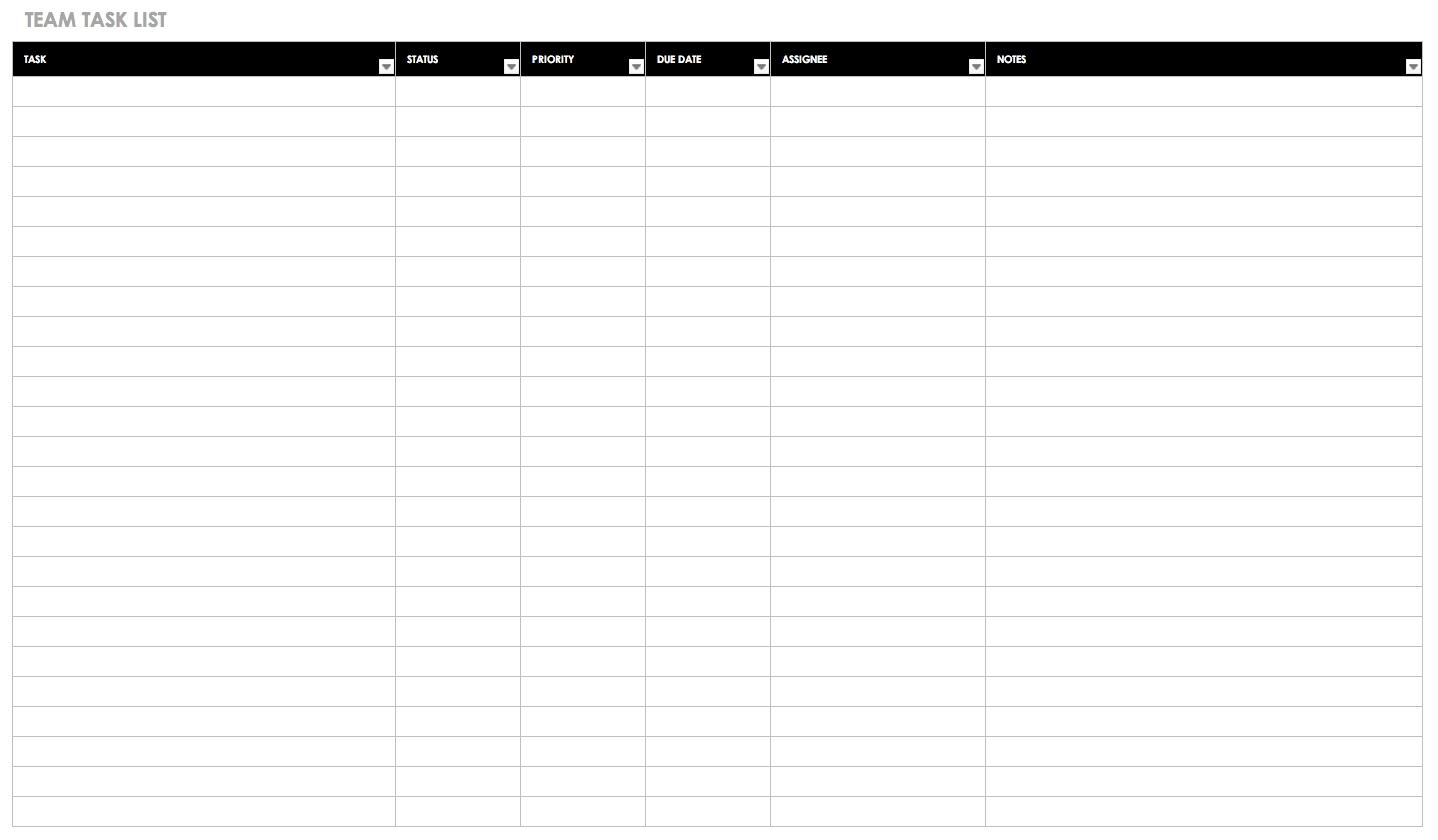 30+ Free Task And Checklist Templates | Smartsheet inside Monthly Bill Bill Checklist With Confirmation Number Column