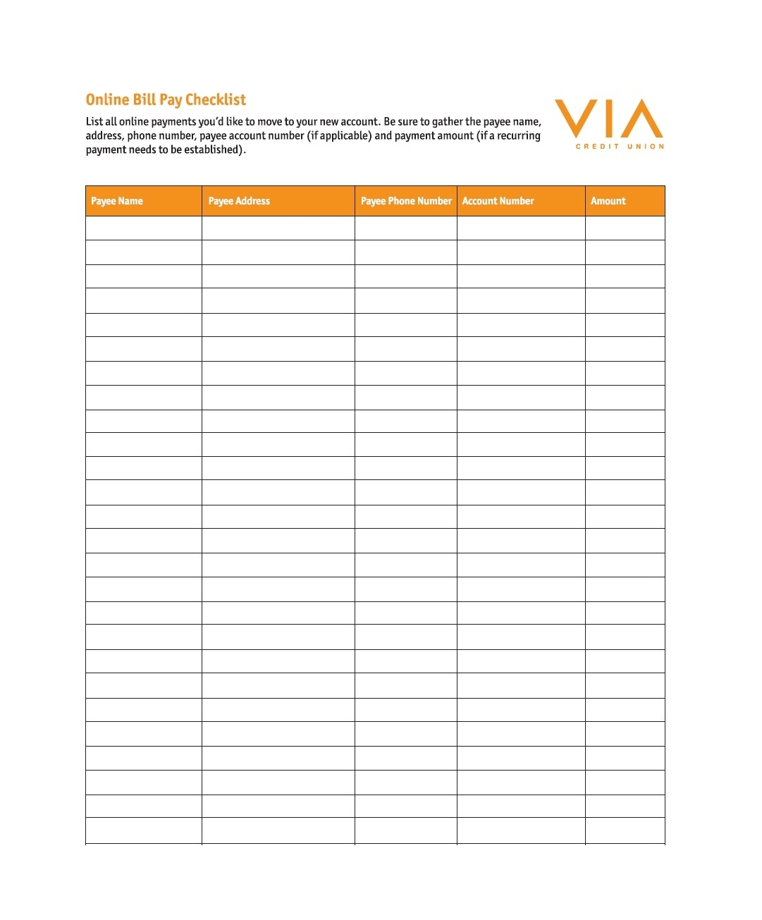 32 Free Bill Pay Checklists & Bill Calendars (Pdf, Word & Excel) regarding Pay My Bill Organizer Sheet