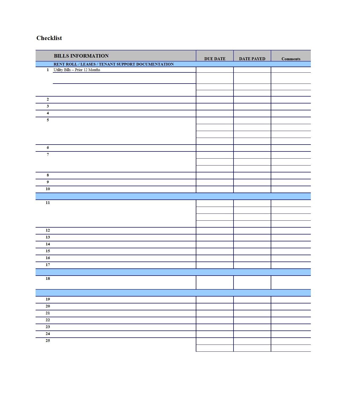 32 Free Bill Pay Checklists & Bill Calendars (Pdf, Word & Excel) regarding Printable Calendar For Bill Paying