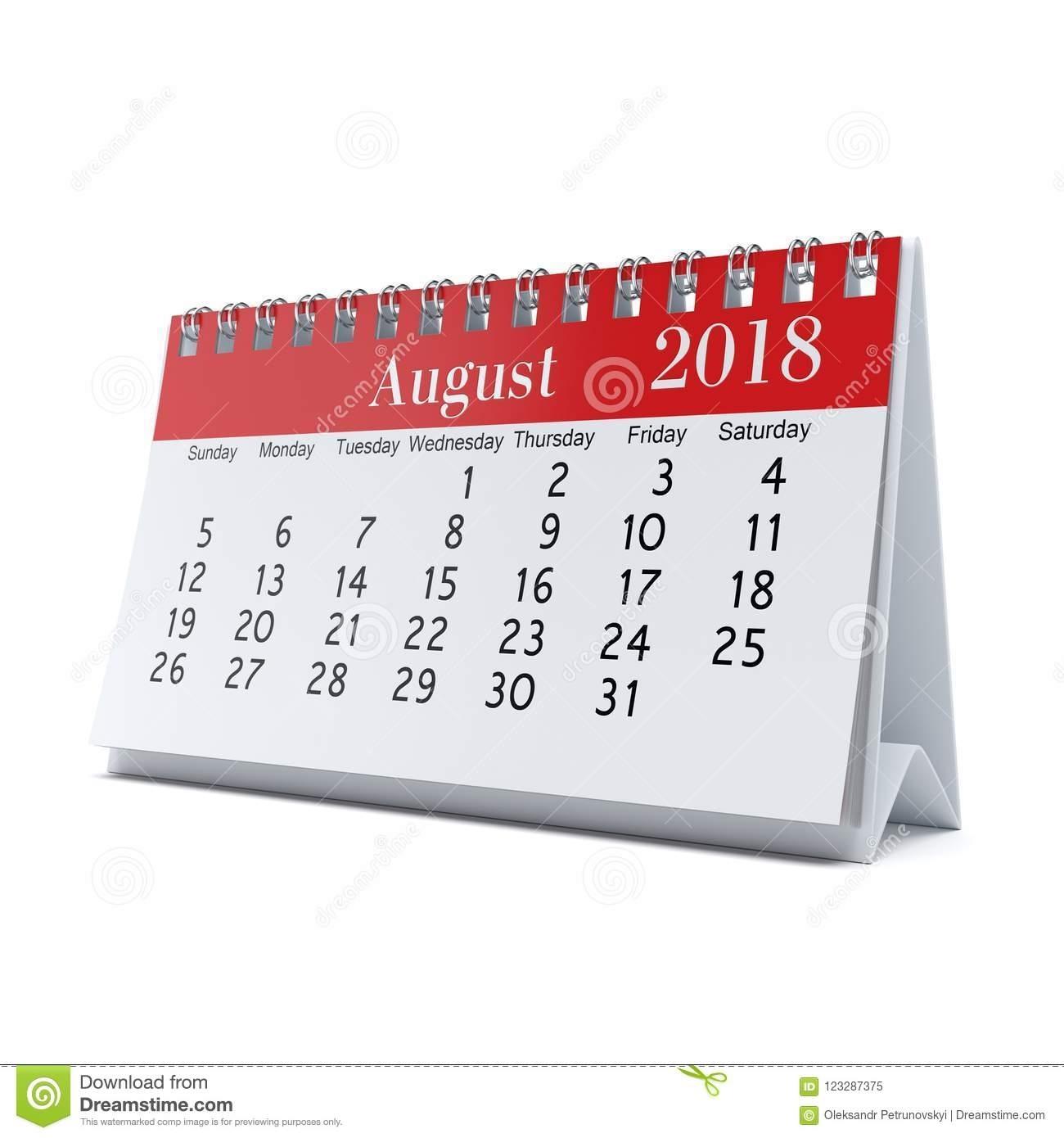 3D Rendering Calendar Stock Illustration. Illustration Of Monthly intended for Desktop Calendar With Lunar Cycle