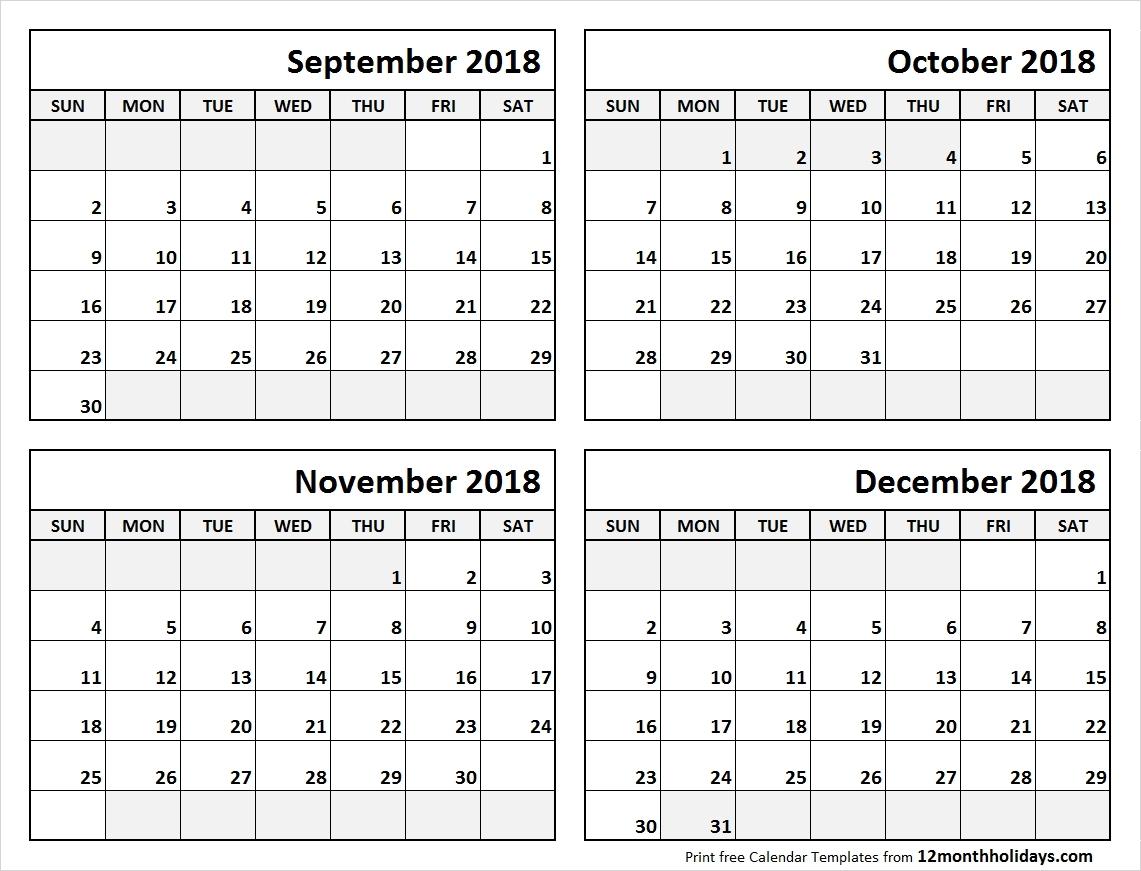 4 Month Blank Calendar Template | Template Calendar Printable in Blank Four Month Calendar Template