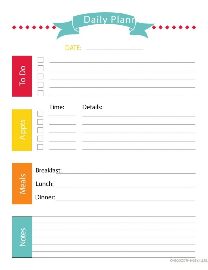 40+ Printable Daily Planner Templates (Free) - Template Lab - Free intended for Large Printable Daily Schedule Template