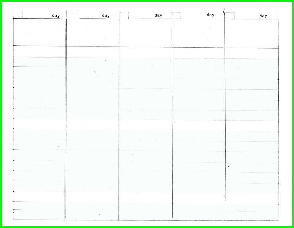 5 Day Blank Calendar | Printable Calendar Templates 2019 regarding Blank 5 Day Calendar Printable
