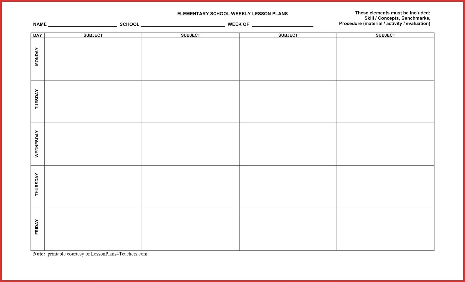 5 Day Monthly Calendar • Printable Blank Calendar Template in Printable 5 Day Monthly Calendar