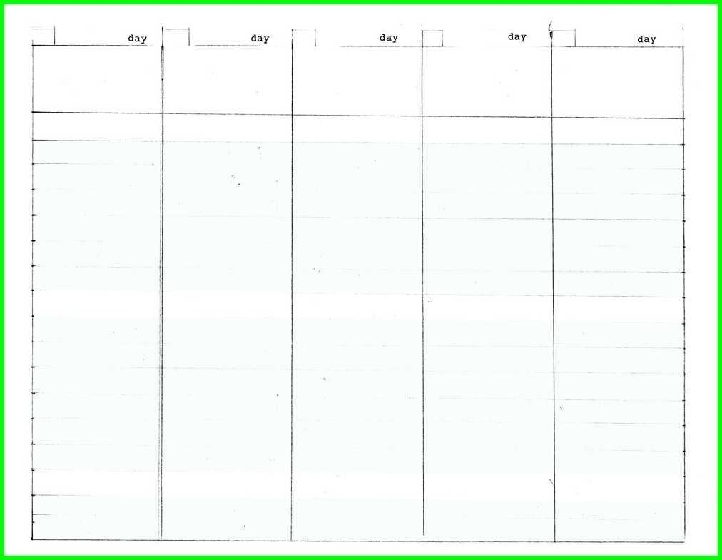 5 Day Monthly Calendar Free • Printable Blank Calendar Template for Free Blank 5 Day Calendar
