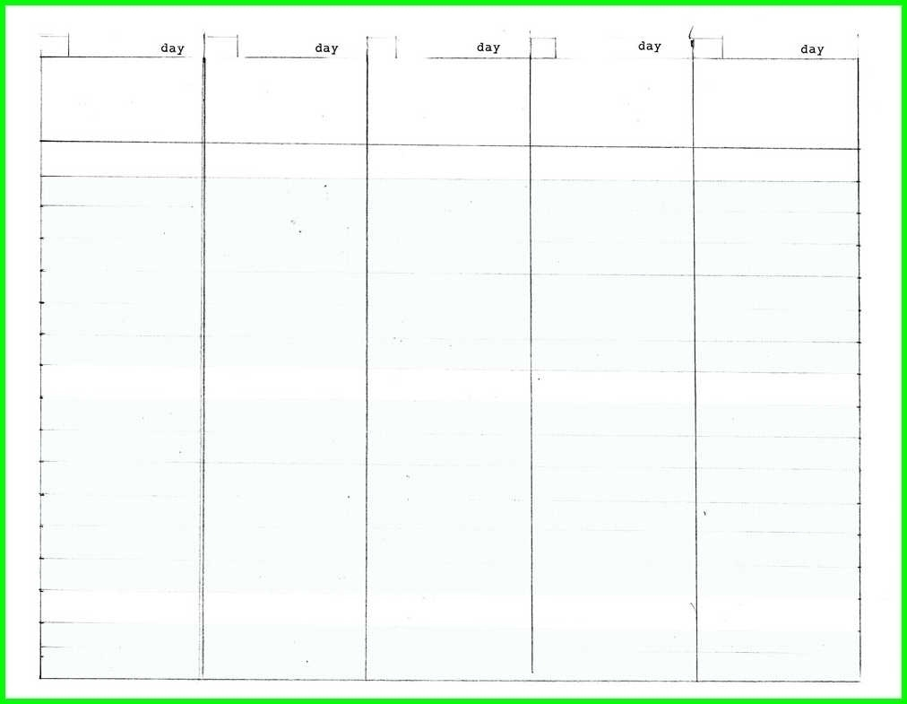 5 Day Monthly Calendar Printable Free | Template Calendar Printable in 5 Day Monthly Calendar Printable Free