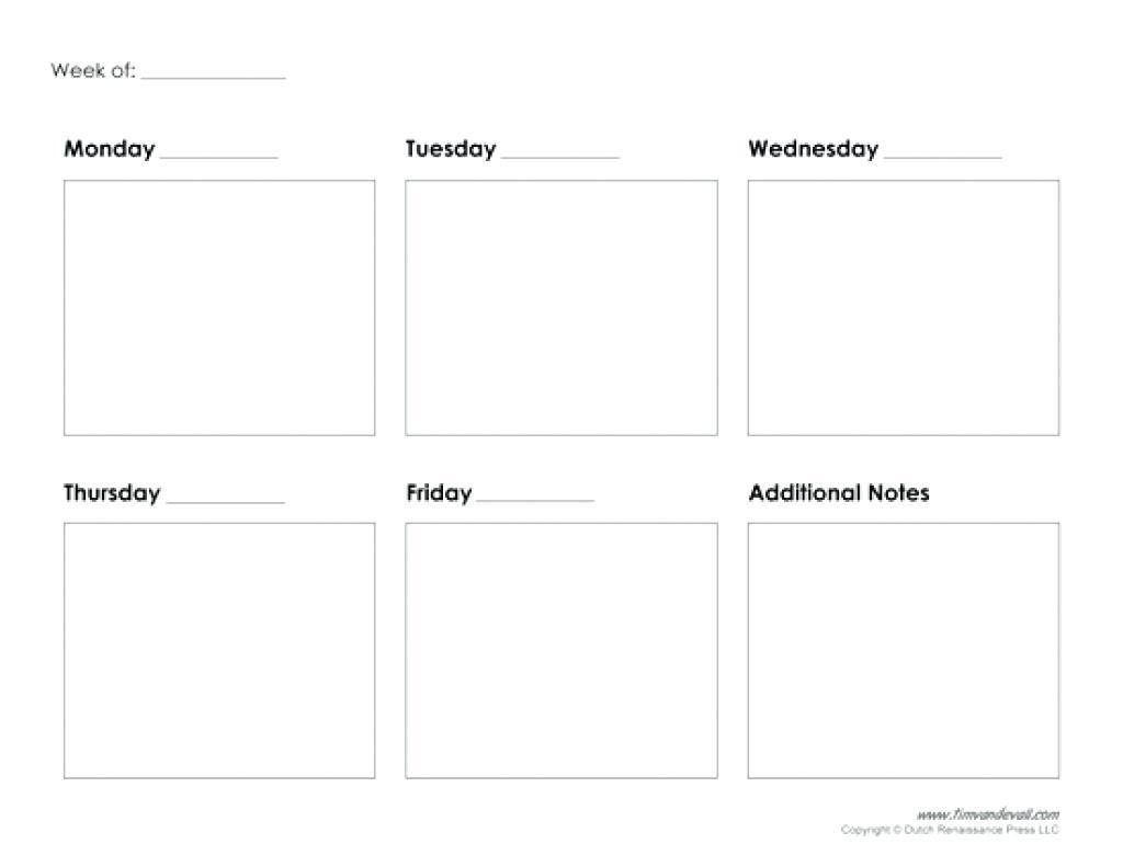5 Day Printable Calendar | Printable Calendar Templates 2019 intended for 5 Day Blank Calendar Printable