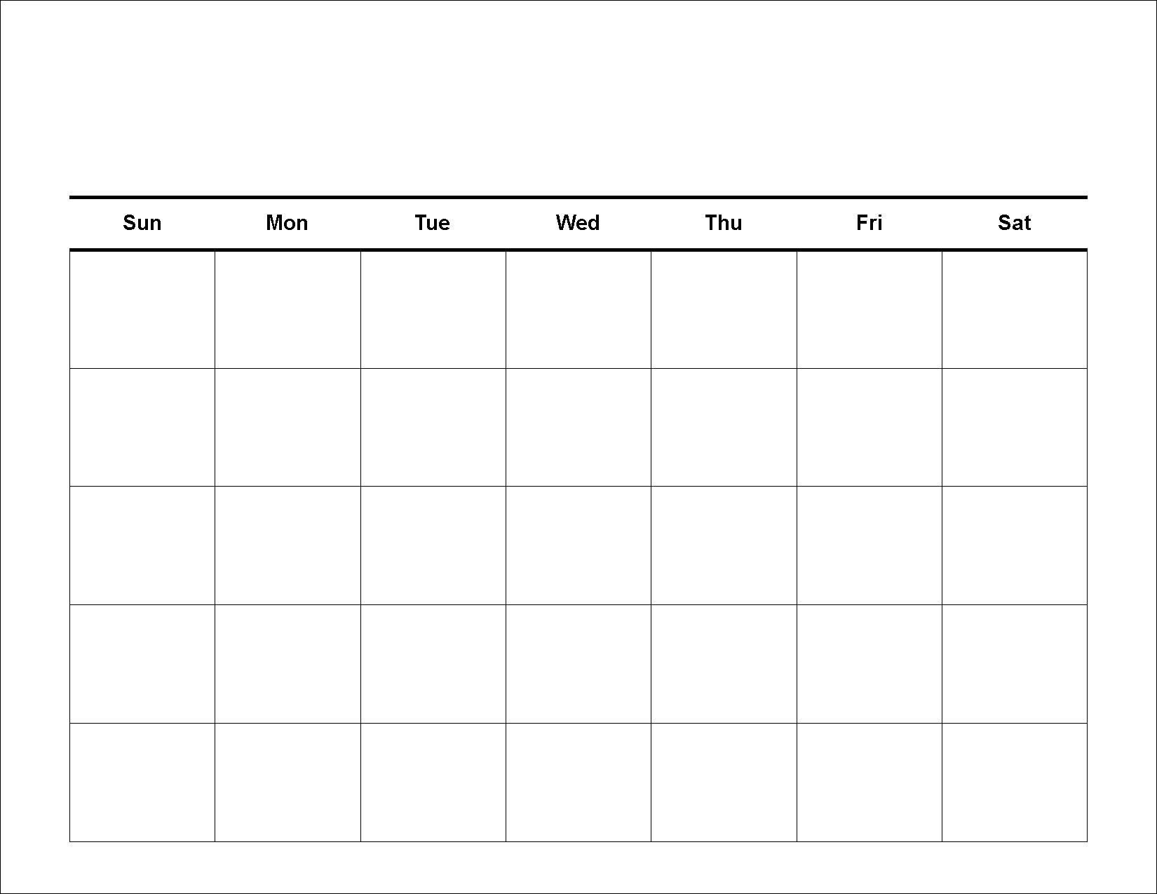 5 Day Week Calendar Printable | Calendar 2019 Template 5 Day Monthly intended for Blank Calendar Template 5 Day