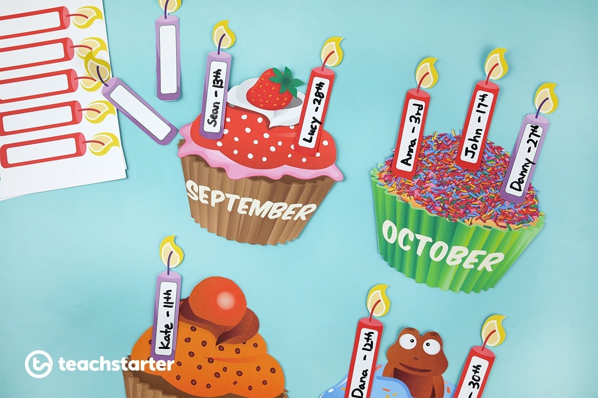 5 Fun And Unique Birthday Wall Ideas | Printable Displays & Decorations with regard to Cup Cake For Classroom Birthday
