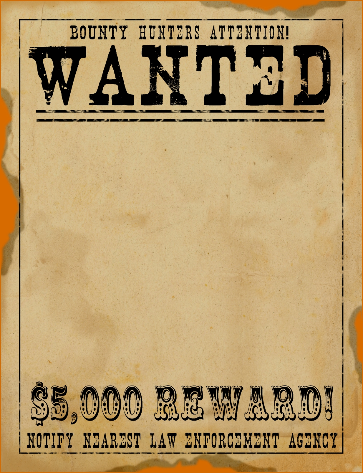5+ Wanted Poster Templates | Authorizationletters inside Free Printable Wanted Poster Template