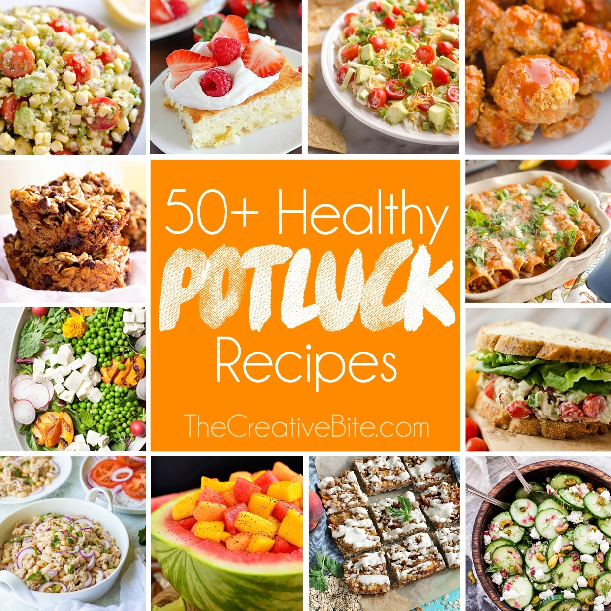 50+ Light & Healthy Potluck Recipes pertaining to Fun Snack Ideas For Meetings