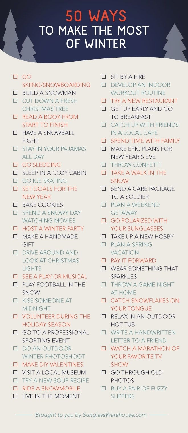 50 Things To Do This Winter | Winter | Winter Christmas, Winter inside Planning Date Night Checklist Template
