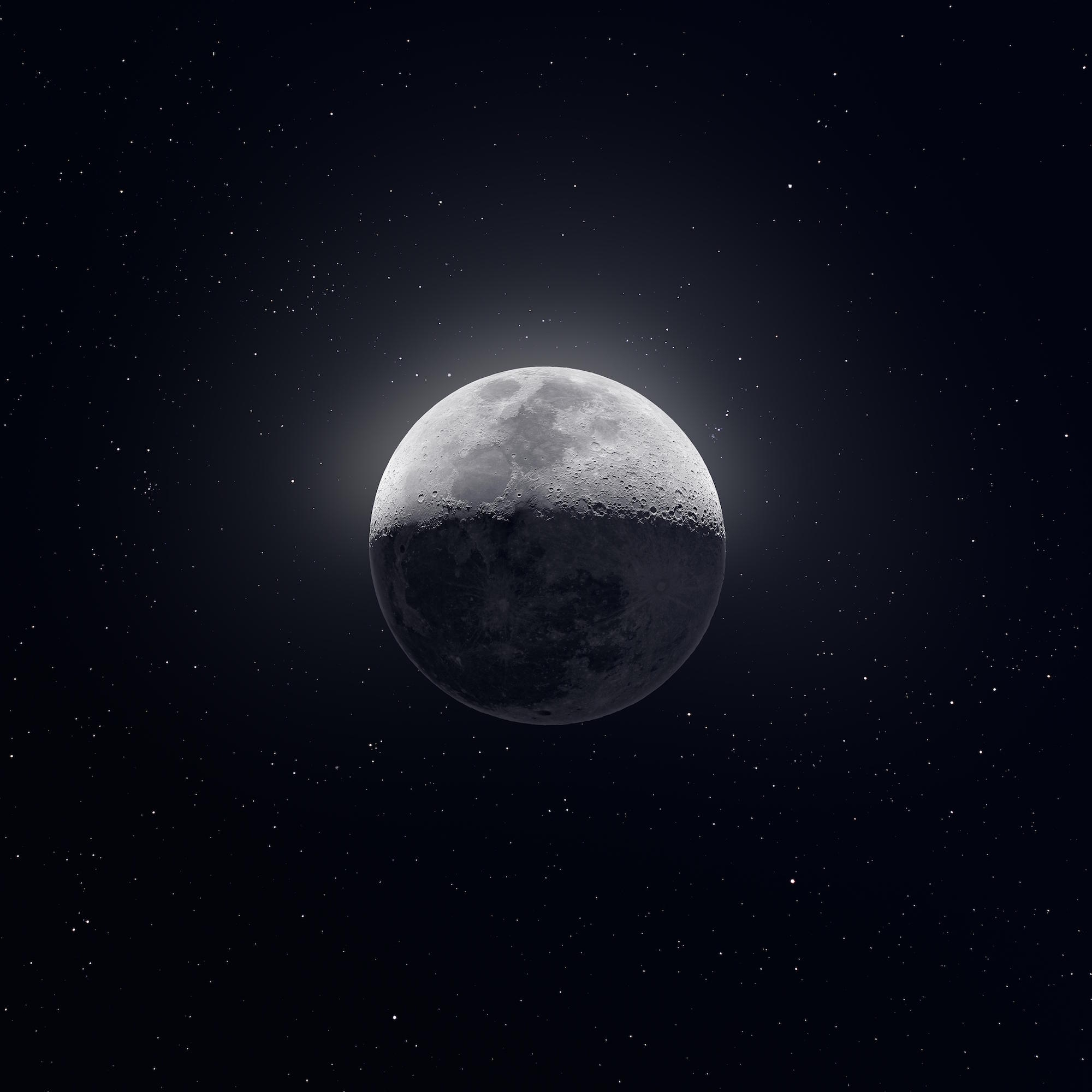 50,000 Photographs Combine To Form A Detailed Image Of The Moon And for Moon Pictures Moon Related Pictures