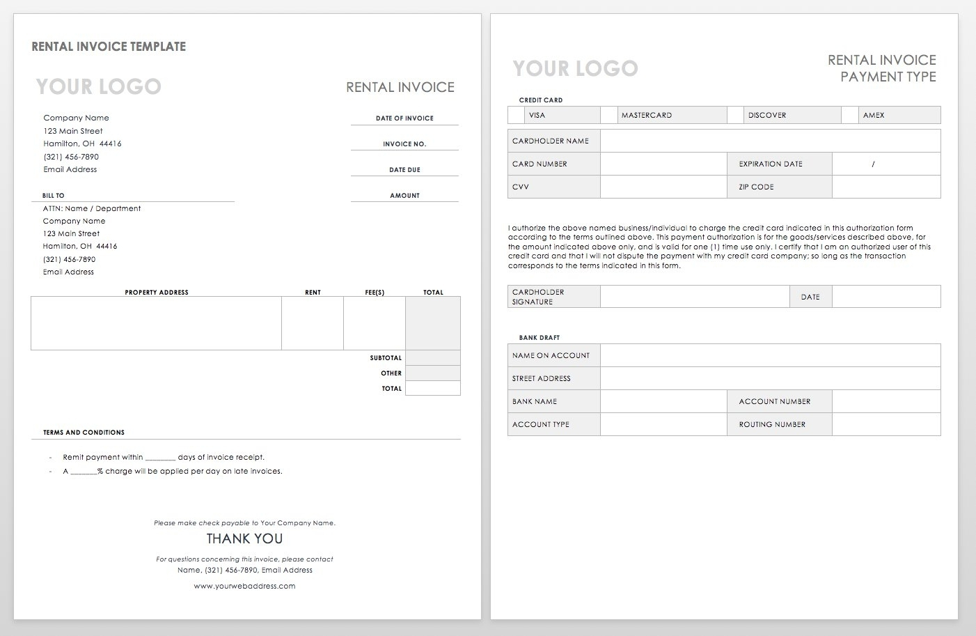 55 Free Invoice Templates | Smartsheet in Free Printable Blank Templates For Paid And Owed