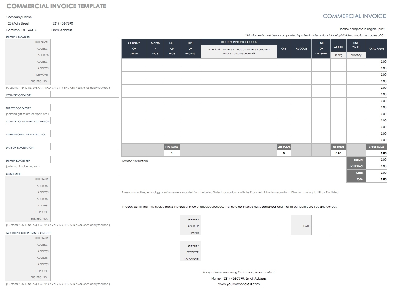 55 Free Invoice Templates | Smartsheet intended for Mothly Bill Payment Balance Sheet Blank