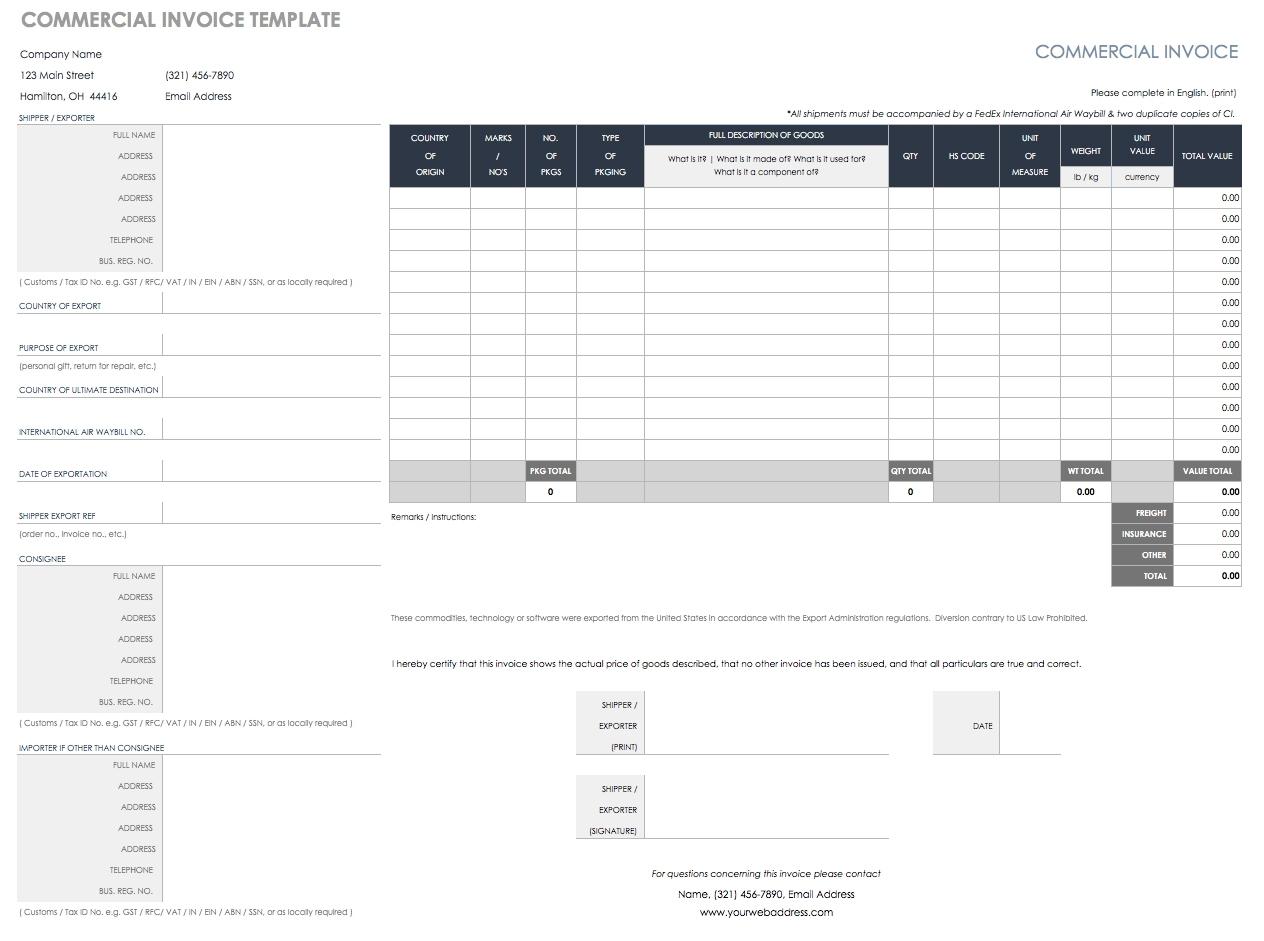 55 Free Invoice Templates | Smartsheet regarding Monthly Bill Bill Checklist With Confirmation Number Column