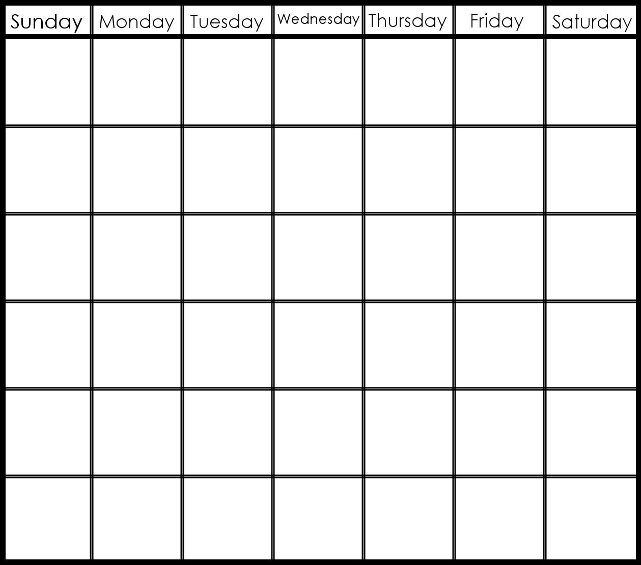 6 Week Printable Calendar | Printable Calendar Templates 2019 in 6 Week Blank Calendar Template