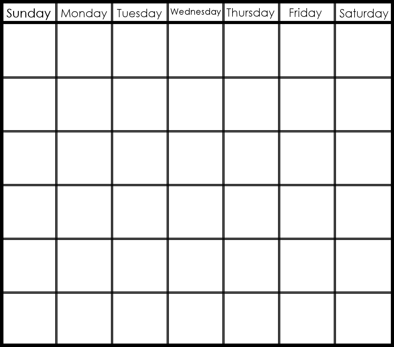 6 Week Printable Calendar | Printable Calendar Templates 2019 inside 6 Week Blank Calendar Printable