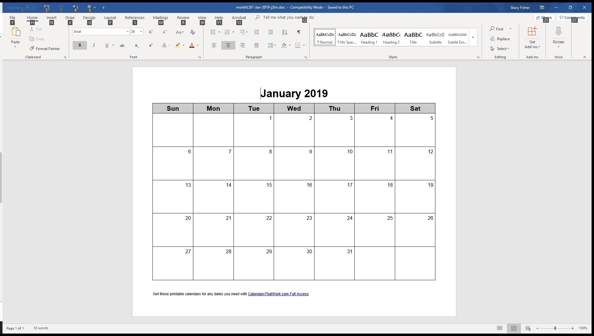7 Top Place To Find Free Calendar Templates For Word inside Basic Monthly Calendar For Editing