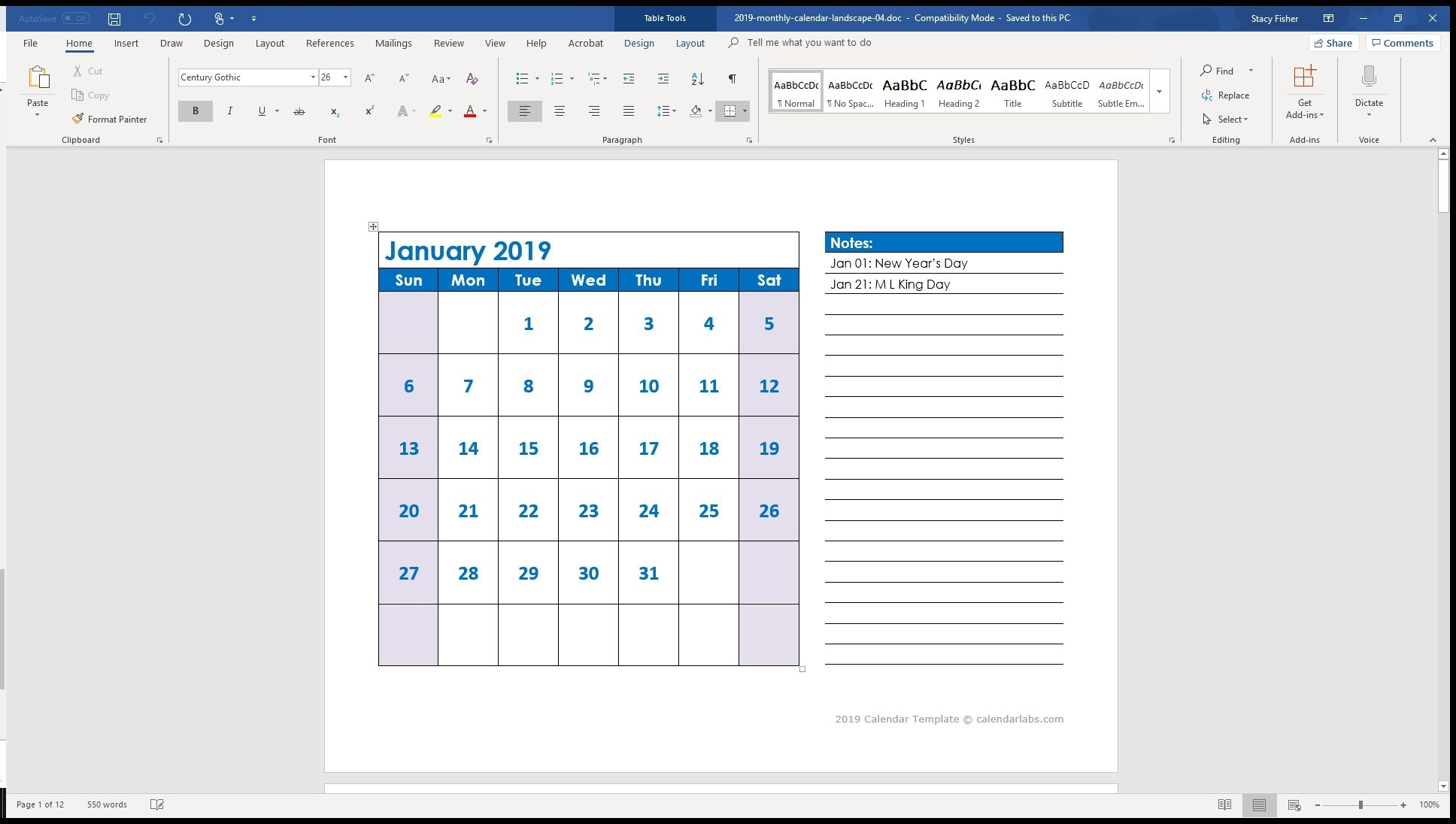 7 Top Place To Find Free Calendar Templates For Word throughout Combined Monthly And Weekly Calendar Template Word