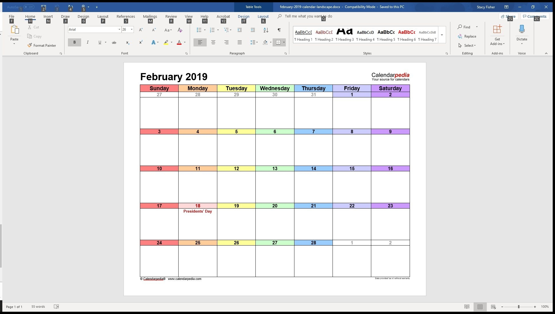 7 Top Place To Find Free Calendar Templates For Word throughout Format For A Birthday/ Anniversary Calendar