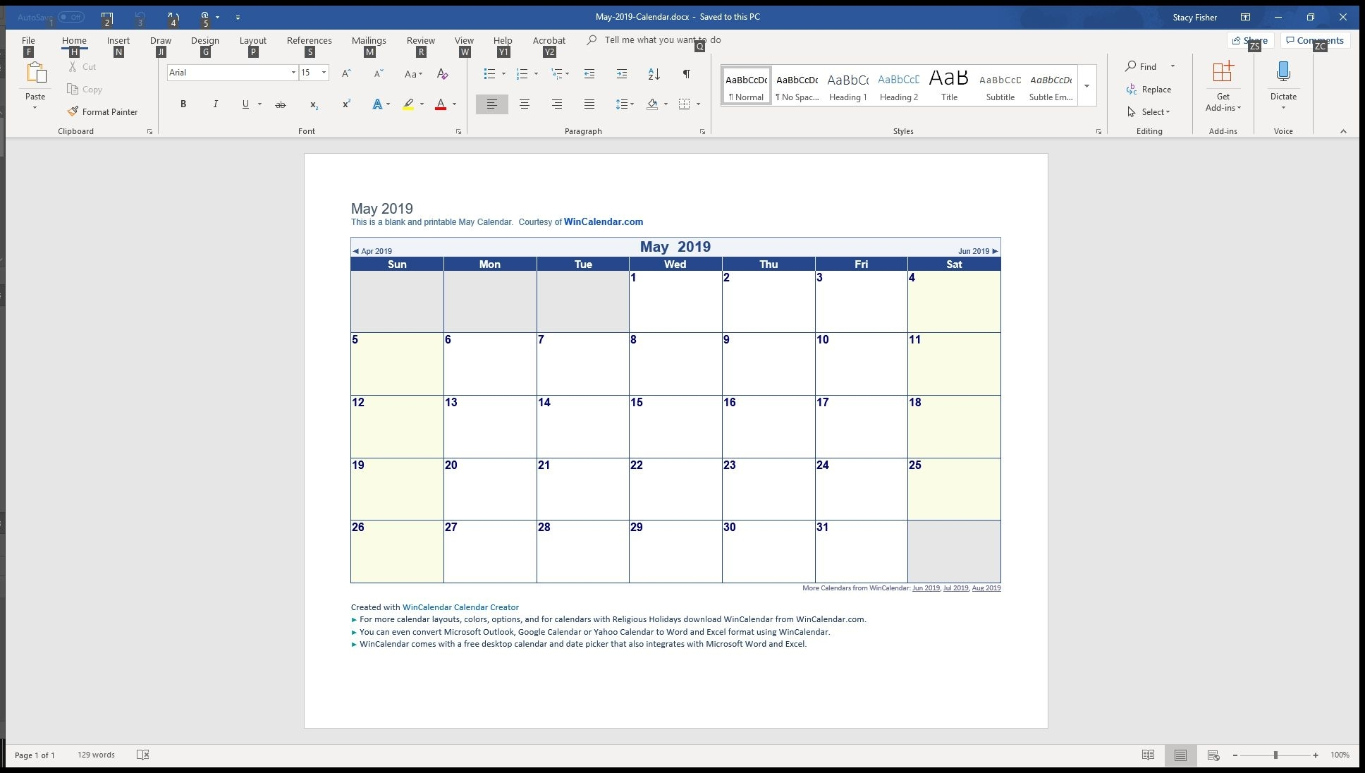 7 Top Place To Find Free Calendar Templates For Word within Monthly Calendar - Vacation Themed