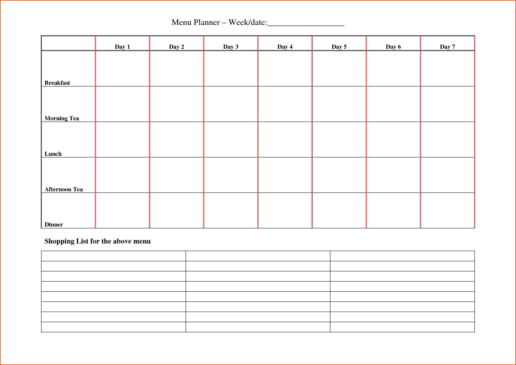 8+ Day Planner Template - Bookletemplate inside Weekly Planner Printable Day 7