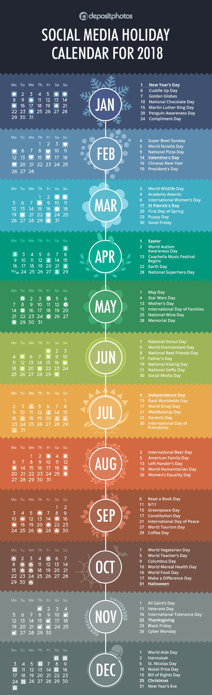 84 Social Media Holidays You Need In 2019: Indispensable! for Social Media Calendar For Apparel Brands