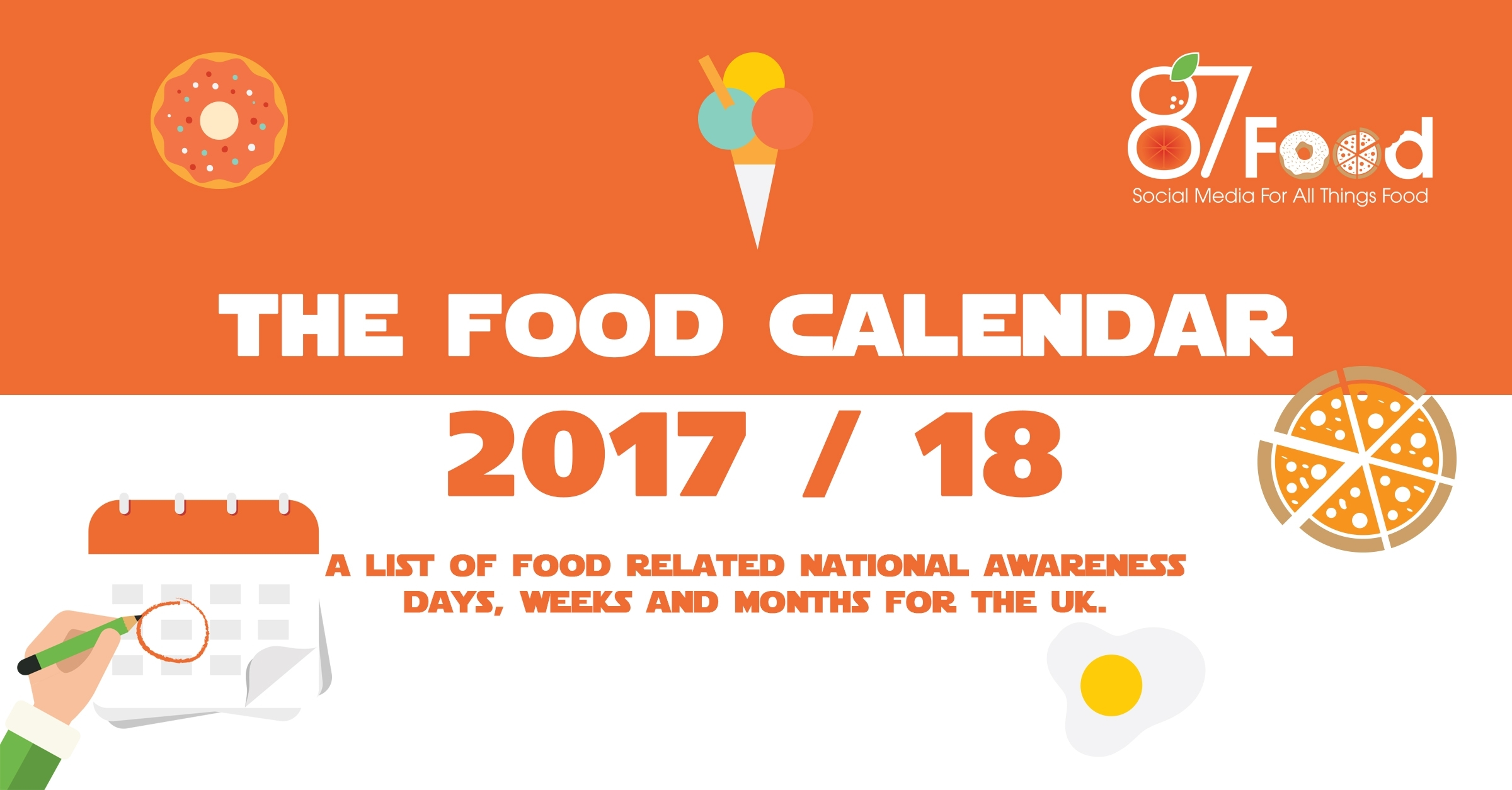 87 Foodthe Food Calendar - Food Awareness Days 2017/18 within Food Days Of The Year Calendar