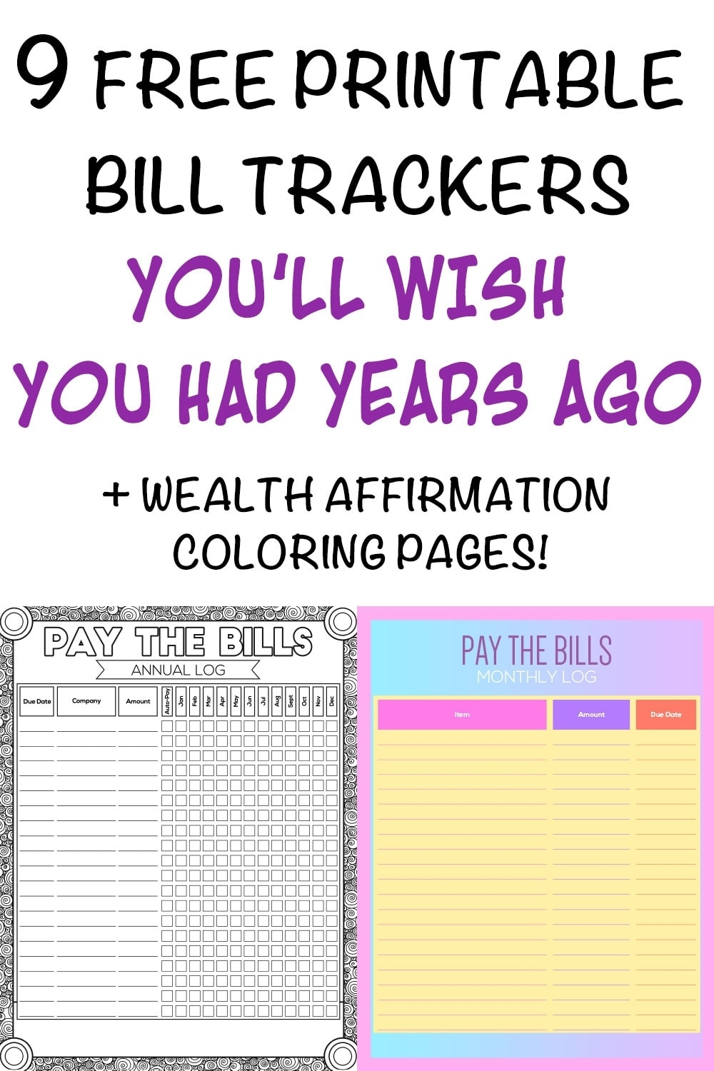 9 Printable Bill Payment Checklists And Bill Trackers - The Artisan Life pertaining to Free Bill Organizer Printable Sheets