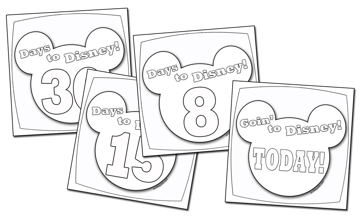 A Disney Countdown Calendar You Can Color in Disney Cruise Countdown Calendar Printable