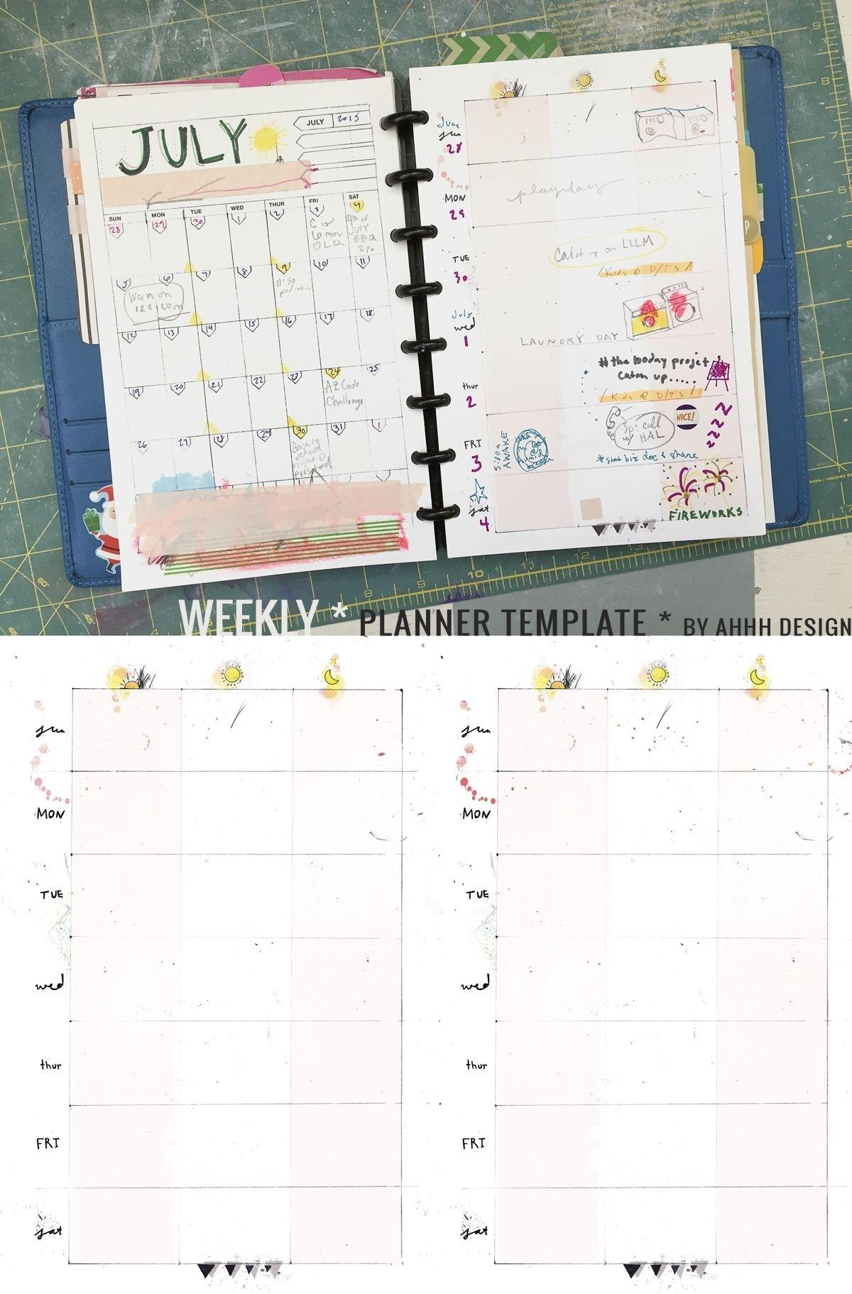 A Messy Week | Diy Planners And Binders | Arc Planner, Weekly in 10 X 8 Planner Template