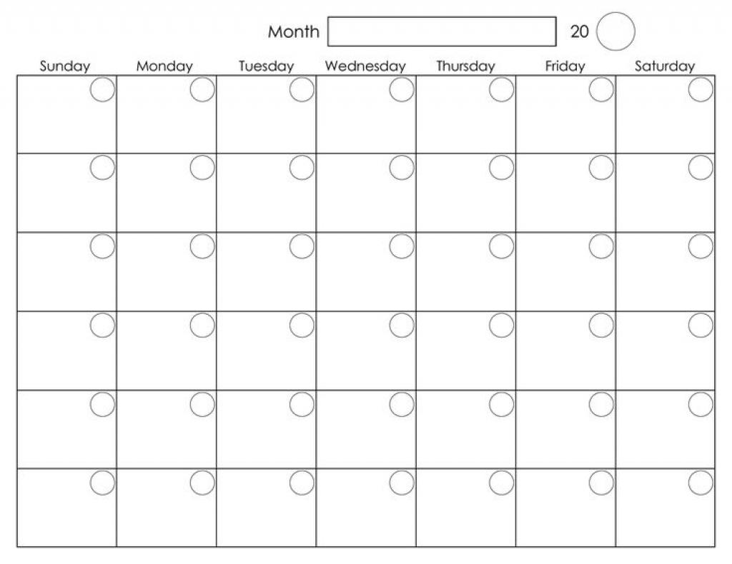 A3 Blank Calendar Monthly Template | Template Calendar Printable inside A3 Blank Calendar Monthly Template