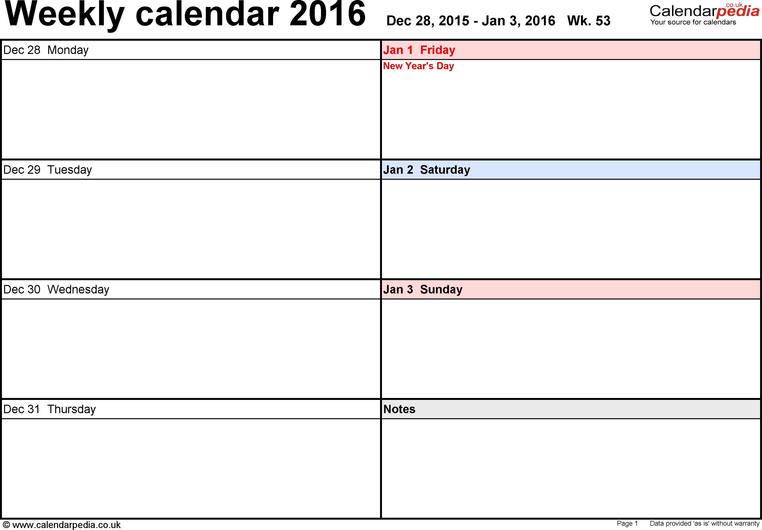 Academic Weekly Calendar - Hashtag Bg throughout 5X8 Calendar Planner Templates Printable