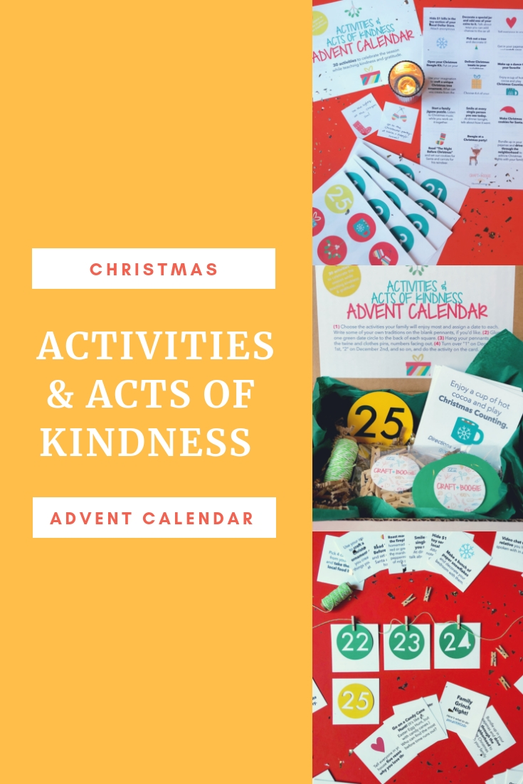 Activities And Acts Of Kindness Advent Calendar — Craft + Boogie within Advent Calendar Arts And Crafts For Preschool