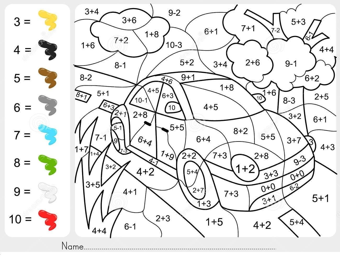 Addition And Subtraction Coloring Worksheets For 2Nd Grade Here You inside Math Coloring Worksheets For 2Nd Graders