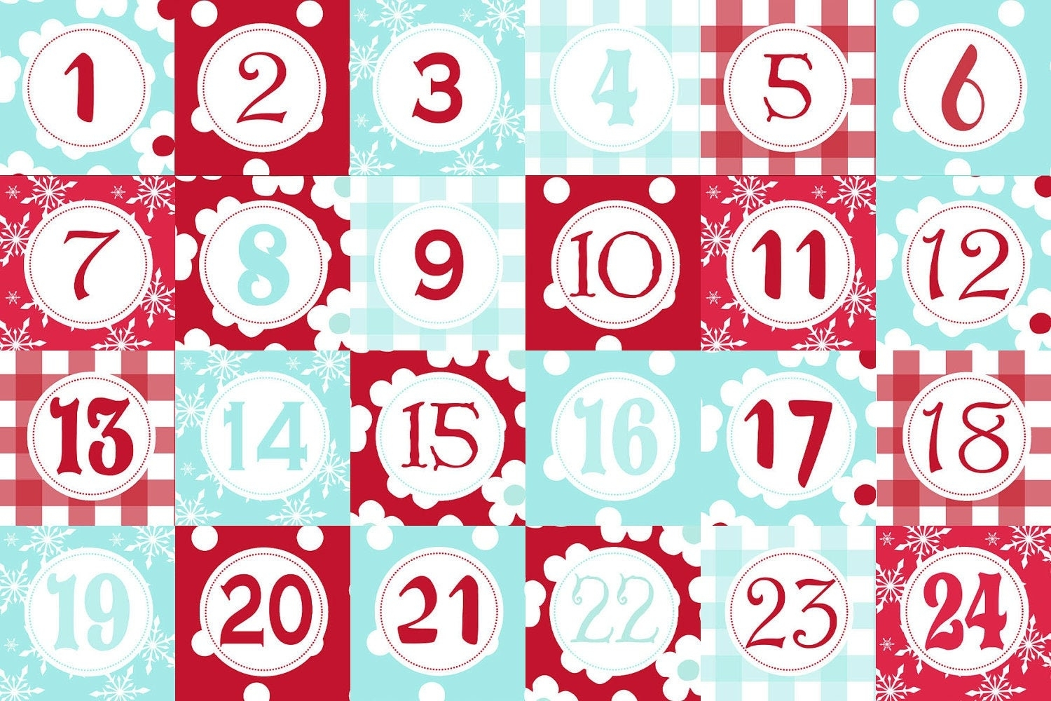 Advent Calendar Templates regarding Advent Calendar Printable Numbers Calendar Template