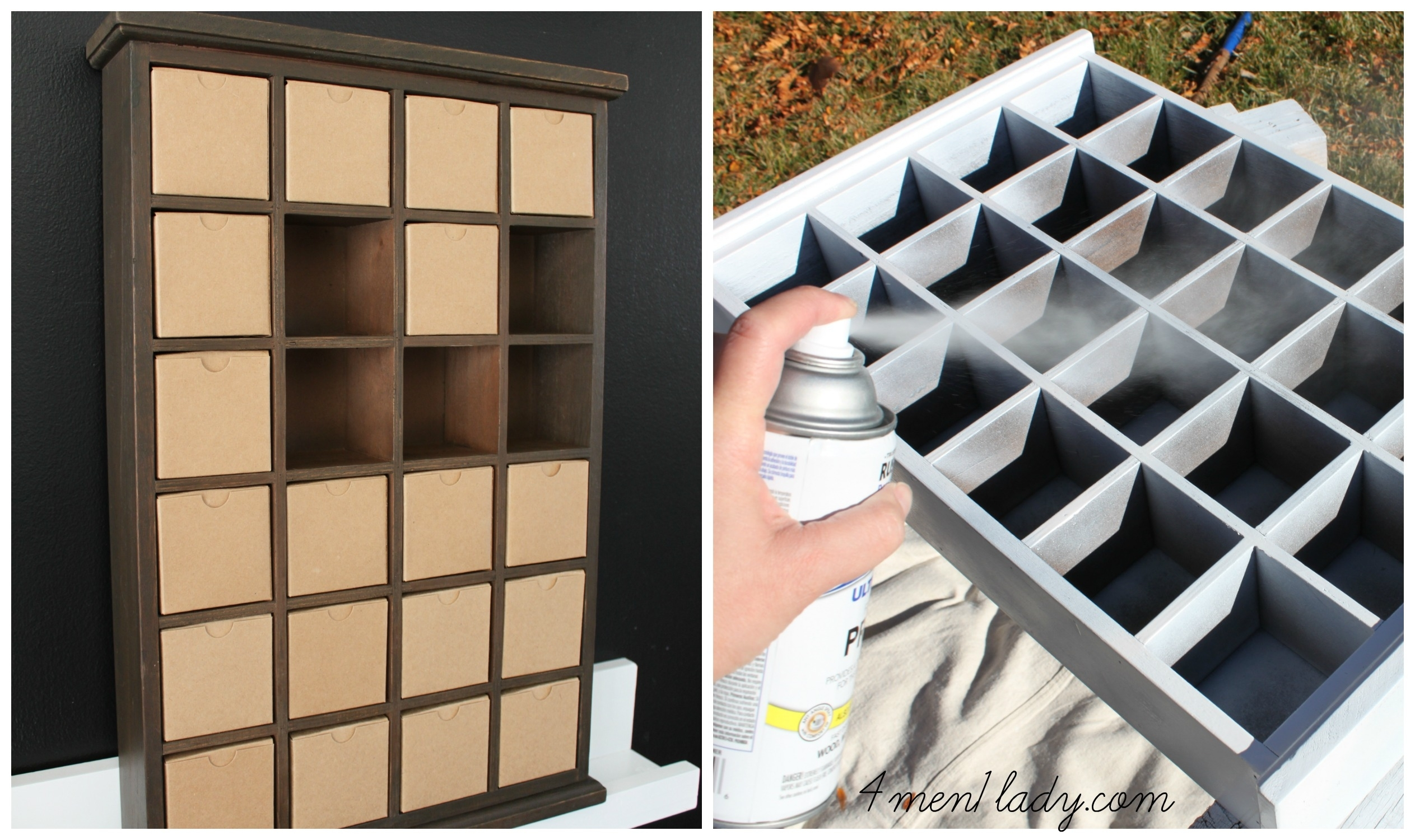 Advent Shadow Box Makeover. for Wooden Shadow Box Advent Calendar