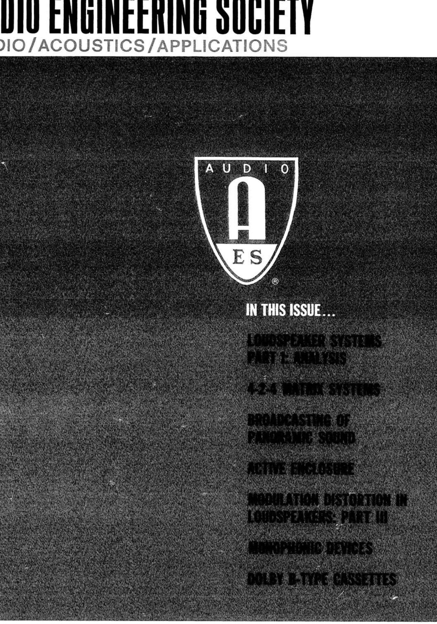 Aes E-Library » Complete Journal: Volume 20 Issue 10 pertaining to Itt Technical Institute Blank Letterhead