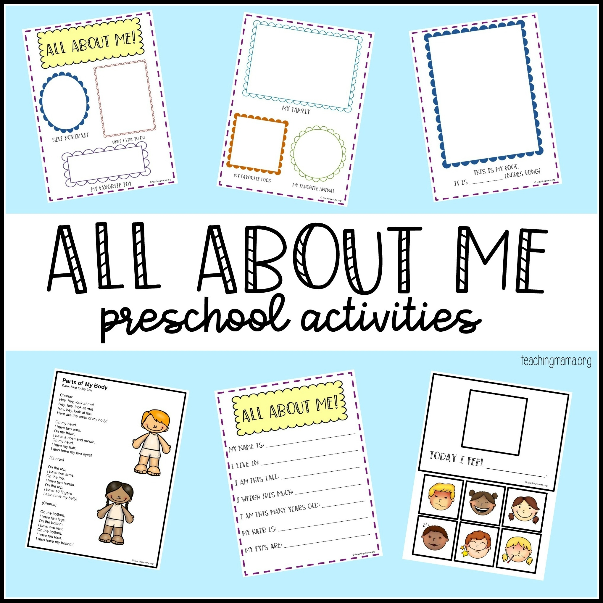 All About Me Preschool Theme inside Weekly Upk Lesson Plan Template